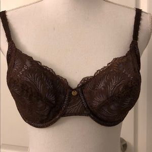 Stunning Natori shimmery brown and bluish bra 36D